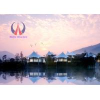 High End Prefab Luxury Tent Hotel Permanent Tent House Hi - Tech Material Modern Style