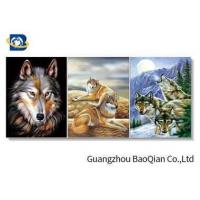 Buy cheap 3D Effect Lenticular Flip Wolf / Eagle Pattern PP / PET Material Wall Poster product