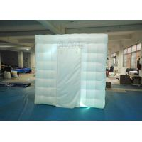 Buy cheap 2.4x2.4x2.4m Small White Inflatable Party Cube Booth Tent With 2 Doors product