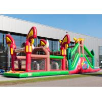 Buy cheap Reliably Blow Up Obstacle Course 17.0 X 3.6 X 4.7 M Fourfold Stitching product