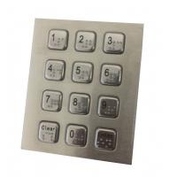 Buy cheap 4 x 3 vandal proof numeric metal keypad with USB PS2 cable for  public security phone product