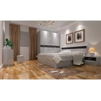 Buy cheap Modern Wooden MDF with White Walnut Melamine Lamination Promotion Furniture Bedroom Set product