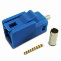 Buy cheap Fakra Connector Code C, Available in Blue, with SMB Jack Crimp for RG174 product