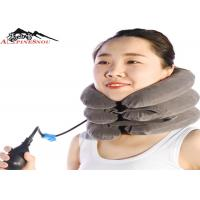 Buy cheap Inflatable Cervical Brace Neck Collar Pillow Brace With Velvet , Neck Pain Relief product