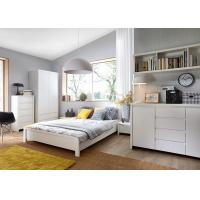Buy cheap Modern High Glossy White Bedroom Furniture Sets , 5 Drawer Chest product