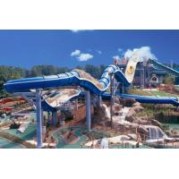 Buy cheap 400 Riders Capacity Rafting Spiral Water Slide For Amusement Park product