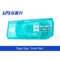 Quality Green / Blue / Red Mini Correction Tape In Blister Card 5mm * 6m for sale