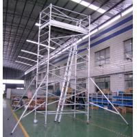 Buy cheap Painting Plastering Safety Adjustble Aluminium Mobile Scaffold / Mobile Scaffolding Tower product