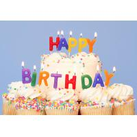 Buy cheap Colorful Happy Birthday Candle Letters 13 PCS For Party Non Toxic Smokeless product