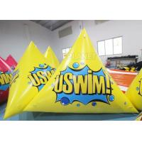 Buy cheap Triangle 2.5m Inflatable Marker Buoy Hot Air Welding UV Resistant product