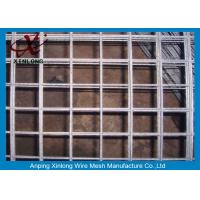Quality Easily Assembled Galvanized Welded Wire Mesh Fence For Concrete Plain Weave Style for sale