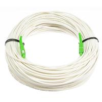 Buy cheap Anti - Bending Fiber Optical Cable Single Mode White Color With LSZH Material product
