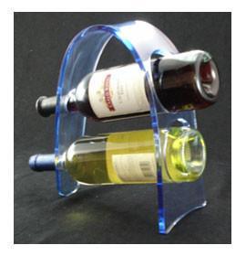 Buy cheap Transparent Acrylic Wine Bottle Display Rack , Plexiglass Bottle Holder product
