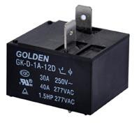 Quality 2 Pin 9V 12V 24V 40A Miniature DC Power Relay GK-D JQX-105F-1 for sale