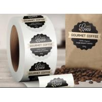 Buy cheap Custom Logo Self Adhesive Labels , Custom Roll Label Stickers For Food Coffee Package product