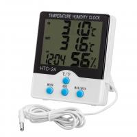 Buy cheap Indoor / Outdoor Digital Hygro Thermometer With Clock And External Sensor product
