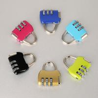 Buy cheap Travel Luggage Resettable Combination Padlock 3 Numbers For Password Suitcase product
