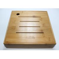 Quality Bamboo Display Box, Wooden Tea Storage Box With 4 Compartments And Lids for sale