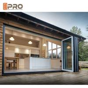 Buy cheap Black multi - Panels Aluminum Folding Doors Residential Energy Efficient product