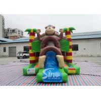 Buy cheap Outdoor kids commercial jungle monkey inflatable combo in monkey theme park for jumping from Sino factory product