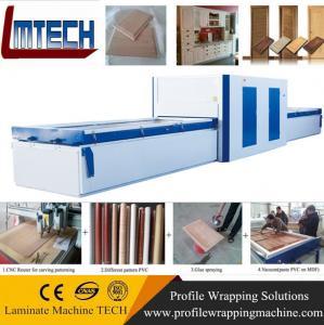 Buy cheap PVC Exterior Composite Doors vacuum membrane press machine product