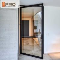 Buy cheap Energy Efficient Aluminum Pivot Doors Swing Open Style With Tempered Glass product