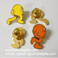 Metal icon enamel color filled lapel pins