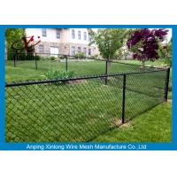 Buy cheap Black Galvanized Chain Link Fence / Pvc Coated Welded Wire Fencing product