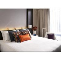Quality Modern 4 Star Hotel Bedroom Furniture Sets 5 Light Lacquer Finish  MDF Panel for sale