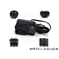 Buy cheap 5V 1A 2A 12V 1A Detachable Plug Interchangeable Power Adapter CE FCC UL GS EAC Certificate product