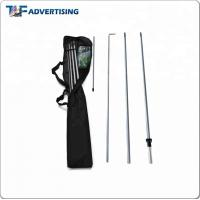 Buy cheap Top Quality Fiberglass Teardrop Flexible Telescopic Feather Beach Flag Pole from wholesalers
