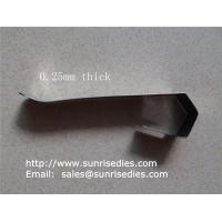 Buy cheap Flat spring steel clips, sheet stamping steel parts, China stamping clip factory, product