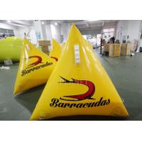 Buy cheap Durable Inflatable Marker Buoy 1.0m Yellow / Orange Silk Printing product