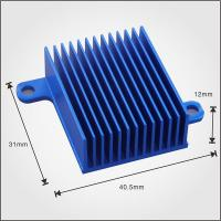 Buy cheap Custom Design Profile Extruded Aluminium Heat Sink Profiles 40mm With Blue Anodized product