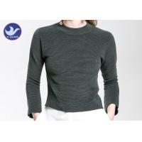 Buy cheap Charm Crop Top Womens Knit Pullover Sweater Lady  Three Quarter Sleeves Short Turtle Neck product