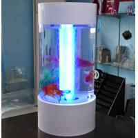 Buy cheap Fishion polishing acrylic fish tank removable with led light from wholesalers