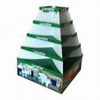 Buy cheap Retail Cardboard Display/Counter Display Unit/Corrugated POP Floor Display with 4C Offset Printing product