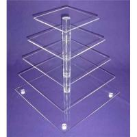 Buy cheap Eco-Friendly 5-Tier Acrylic Bakery Display Case For Cupcake , Cookie product