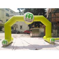 Buy cheap Yellow Color Custom Inflatable Arch Rental Flame Retardant For Sport product
