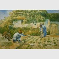 Buy cheap Post impressionism Vincent Van Gogh Oil Paintings Father Daughter Replicated on from wholesalers
