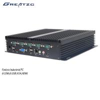 Buy cheap 6 COM Fanless Industrial Computer With 6 USB 2.0 6 / Fanless Embedded PC product