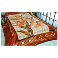 Buy cheap Printed Breathable Acrylic Mink Blanket Sheet Woven For Cool Season , Soft Mink from wholesalers