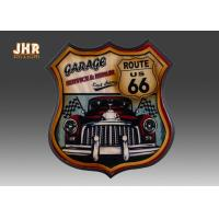 Quality Route US 66 Wall Decor Decorative Wood Wall Plaques Pub Sign 3D Resin Car Wall Decorations for sale