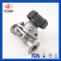 China Double Layer Tank Bottom Diaphragm Valves Welded 316L PTFE Add EPDM Seal on sale