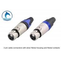 Buy cheap Satin Silver Housing XLR Audio Female Connector / LC3FX Trs Audio Connector product