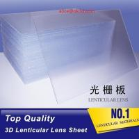 Buy cheap Large size PS lenticular board 16LPI 120cmx240cm 6mm for UV Flatbed printer and injekt printer for big size 3D Poster product