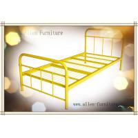 "Buy cheap Metal Bed Twin Size Yellow 38X75"" product"