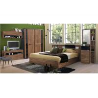 Buy cheap Fashion Melamine 5 Piece Bedroom Furniture Sets With Sliding Wardrobe And TV Stand product