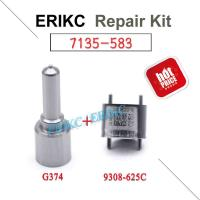 Buy cheap ERIKC delphi common rail injector repair kits 7135-583 nozzle G374 valve 9308-625C for Ssangyong injector EMBR00301D product
