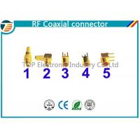 Buy cheap MMCX Male Crimp Connector Right Angle 50 OHMs For RG316 Coaxial Cable product